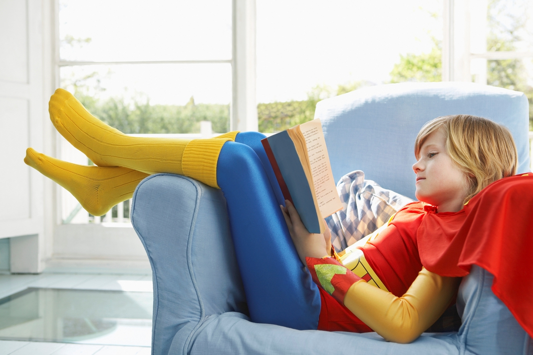 Child on Couch Reading