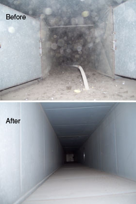 Duct Cleaning Before and After