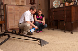 carpet cleaning demonstration