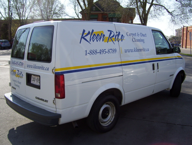 Kleen Rite Carpet and Duct Cleaning Service Truck