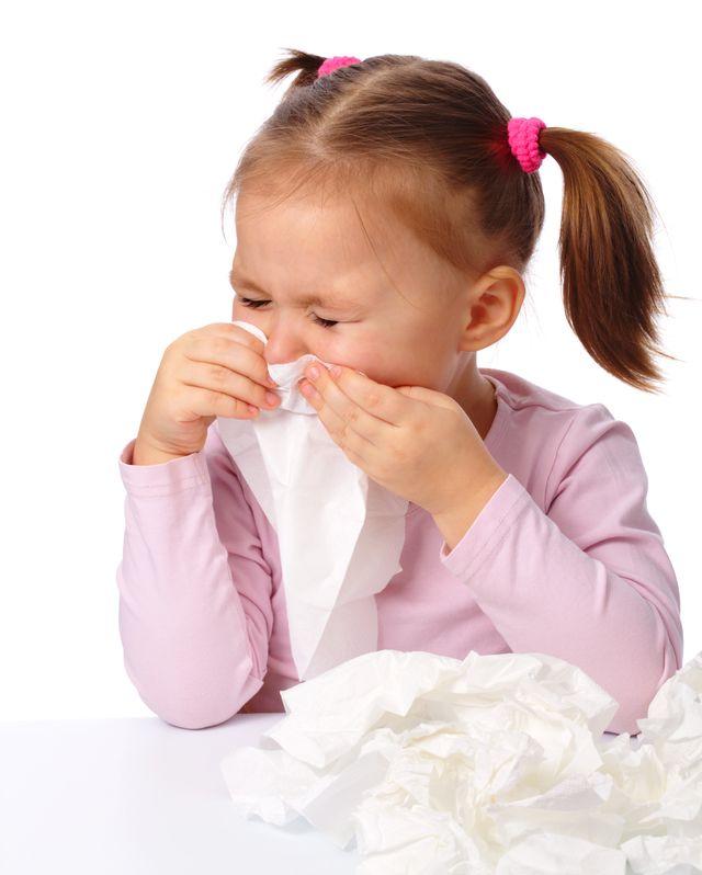 young girl sneezing - achoo
